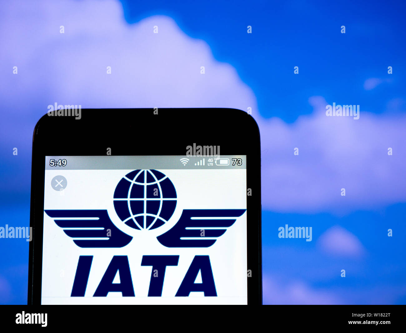 In this photo illustration the International Air Transport