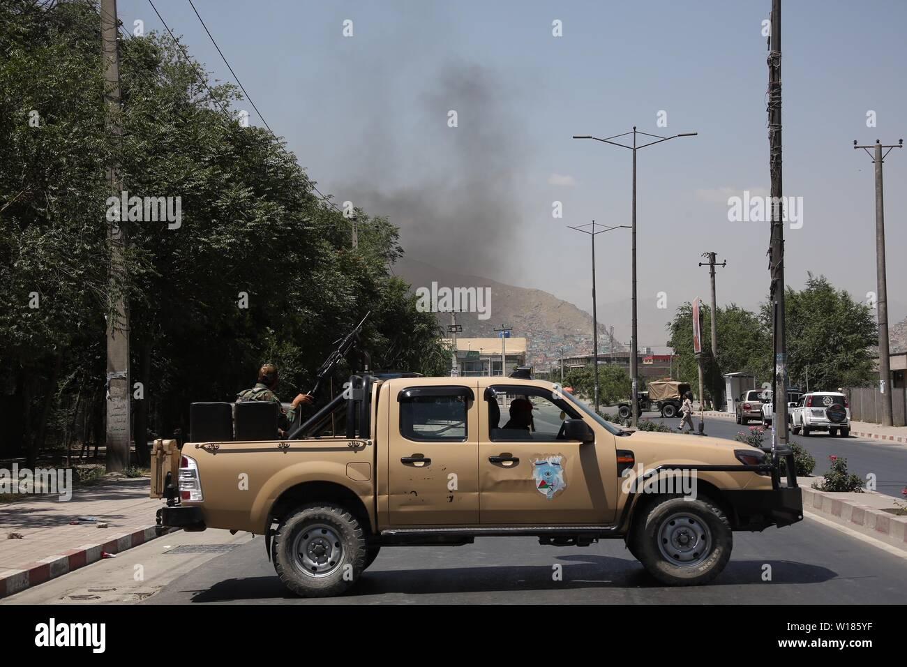 Kabul, Afghanistan  1st July, 2019  Members of Afghan
