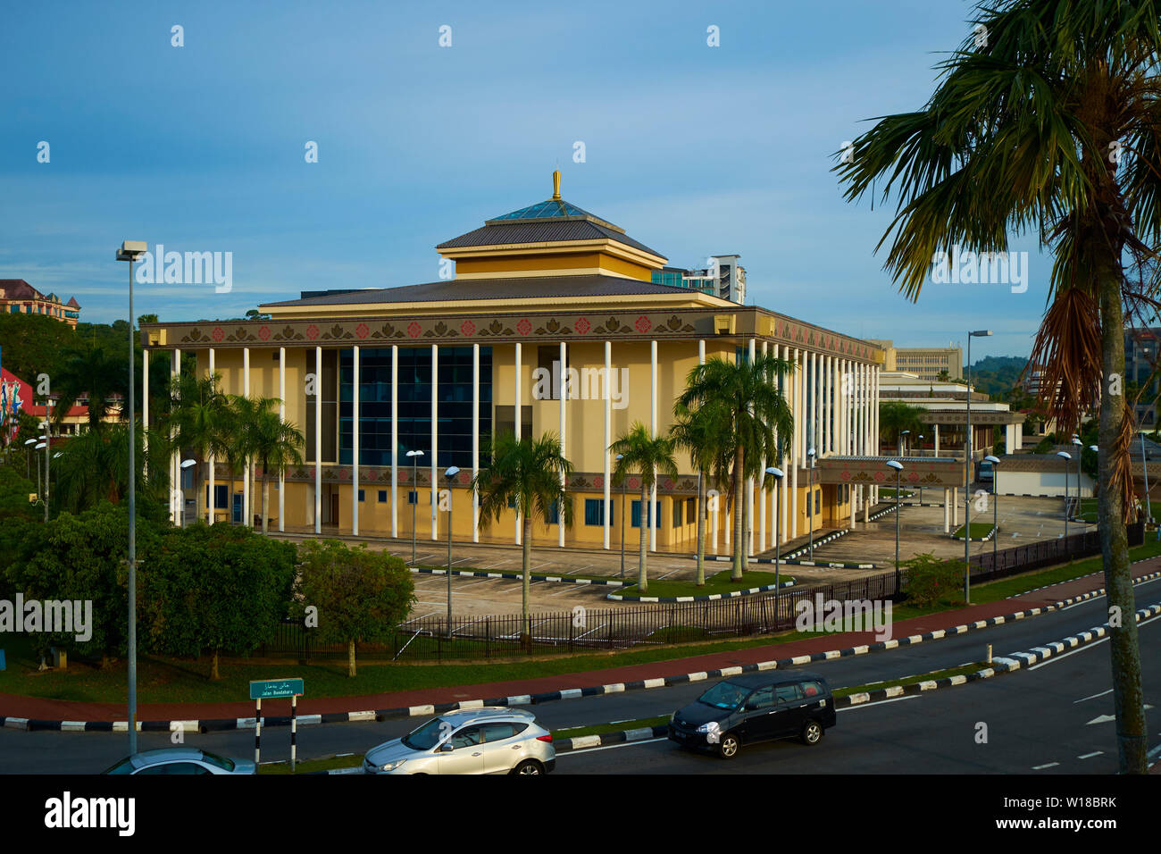 Exterior view of the Jabatan Adat Istiadat building in Bandar Seri Begawan, Brunei - Stock Image