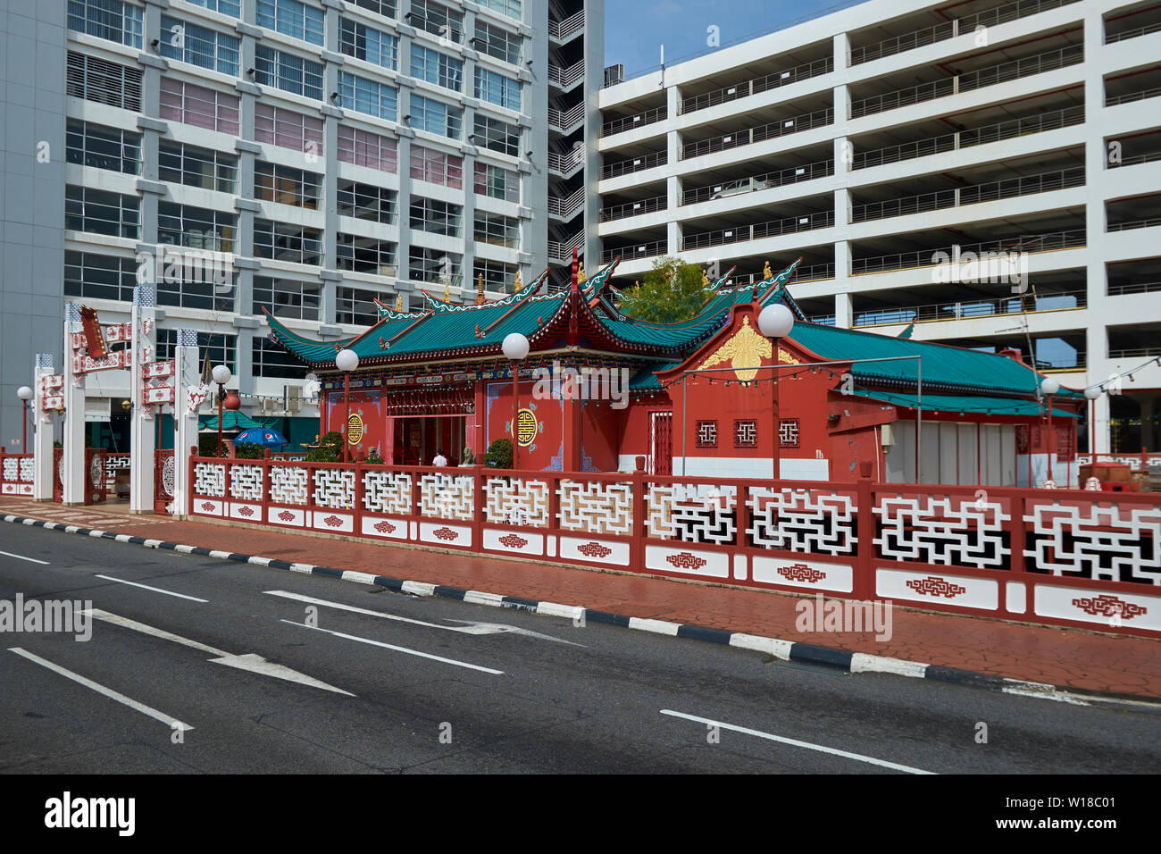 The Chinese temple, Teng Yun, in Bandar Seri Begawan, Brunei - Stock Image