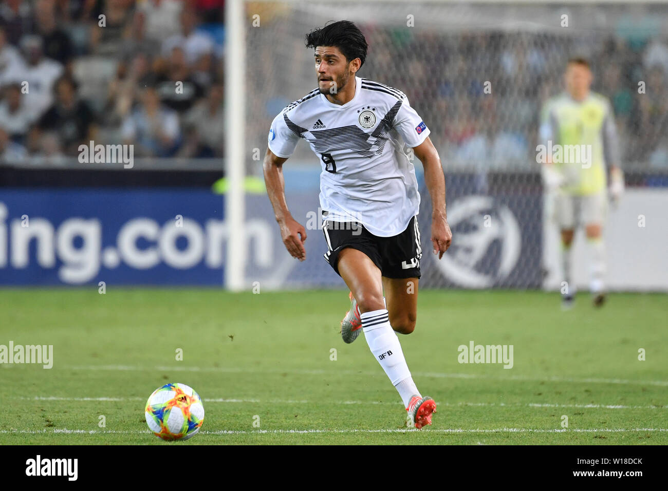 Udine, Italien. 30th June, 2019. Mahmoud DAHOUD (GER), Action, Single Action, Frame, Cut Out, Full Body, Whole Figure. Spain (ESP) - Germany (GER) 2-1, at 30.06.2019 Stadio Friuli Udine. Football U-21, FINALE UEFA Under21 European Championship in Italy/SanMarino from 16.-30.06.2019. | Usage worldwide Credit: dpa/Alamy Live News - Stock Image