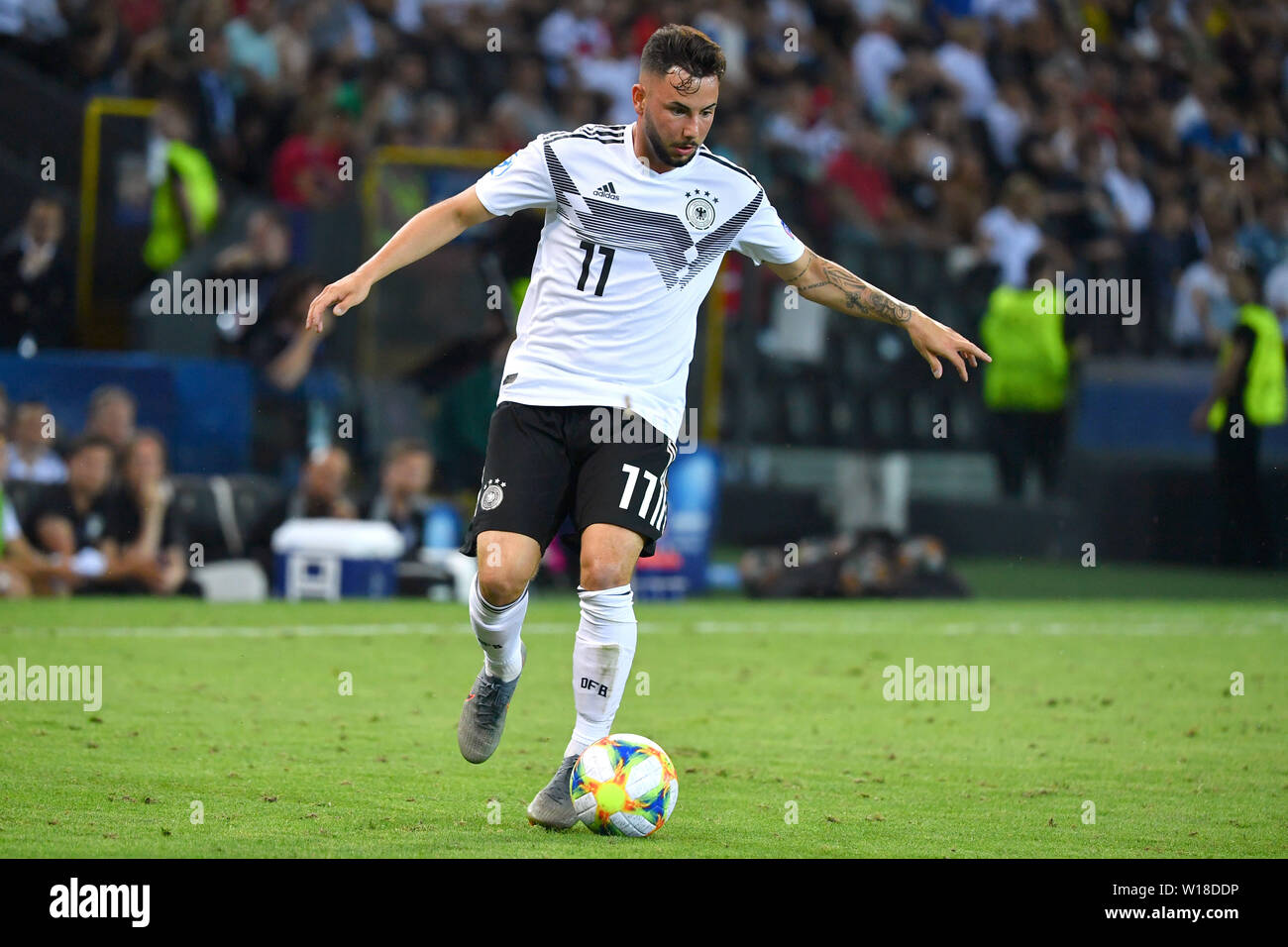 Marco RICHTER (GER), Action, Single Action, Frame, Cut Out, Full Body, Whole Figure. Spain (ESP) - Germany (GER) 2-1, at 30.06.2019 Stadio Friuli Udine. Football U-21, FINALE UEFA Under21 European Championship in Italy/SanMarino from 16.-30.06.2019. | Usage worldwide - Stock Image