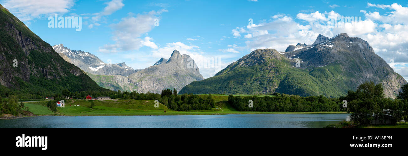 Romsdal valley, Andalsnes, Norway. - Stock Image