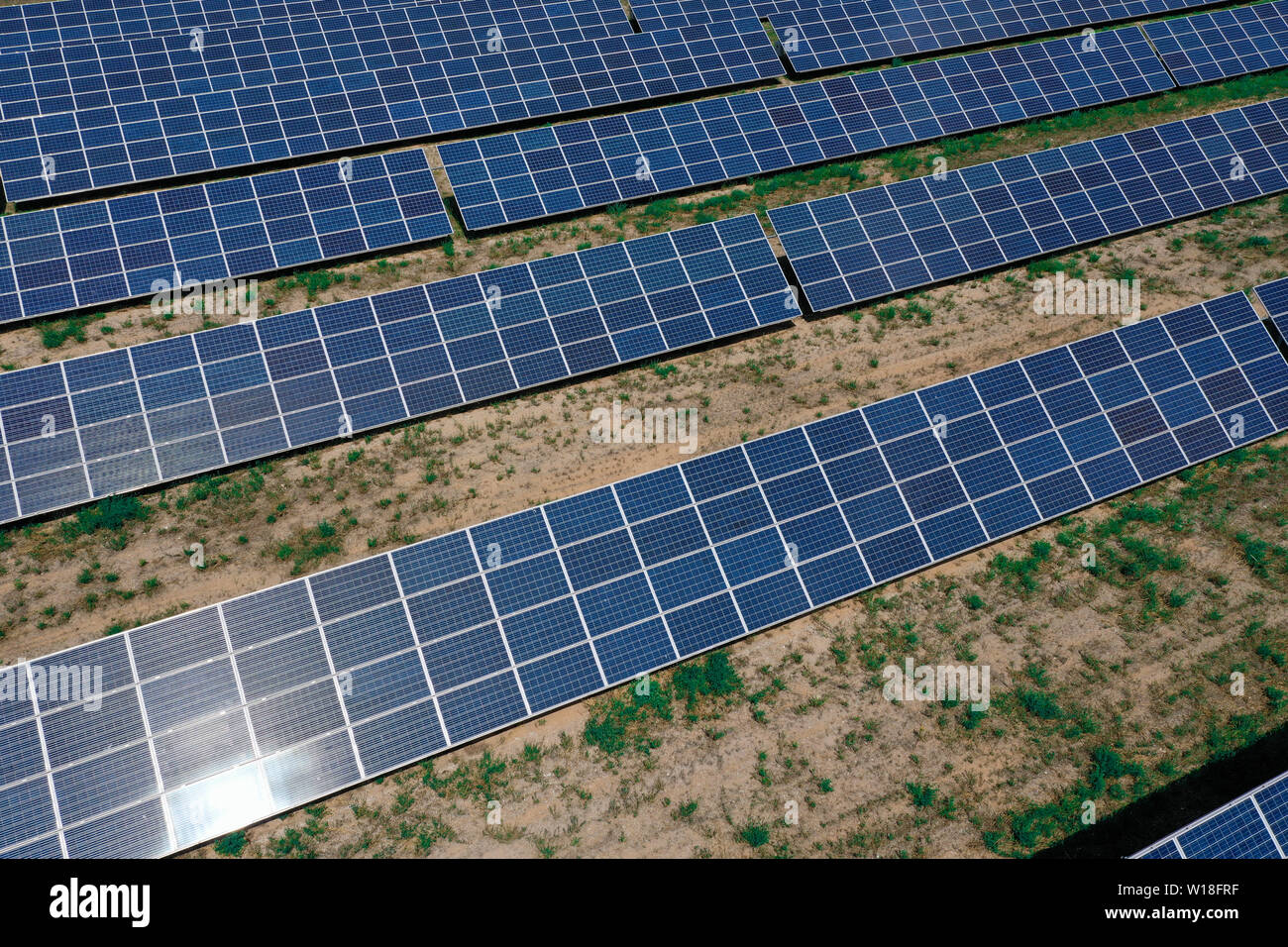 Solar power plant for the production of Stock Photo