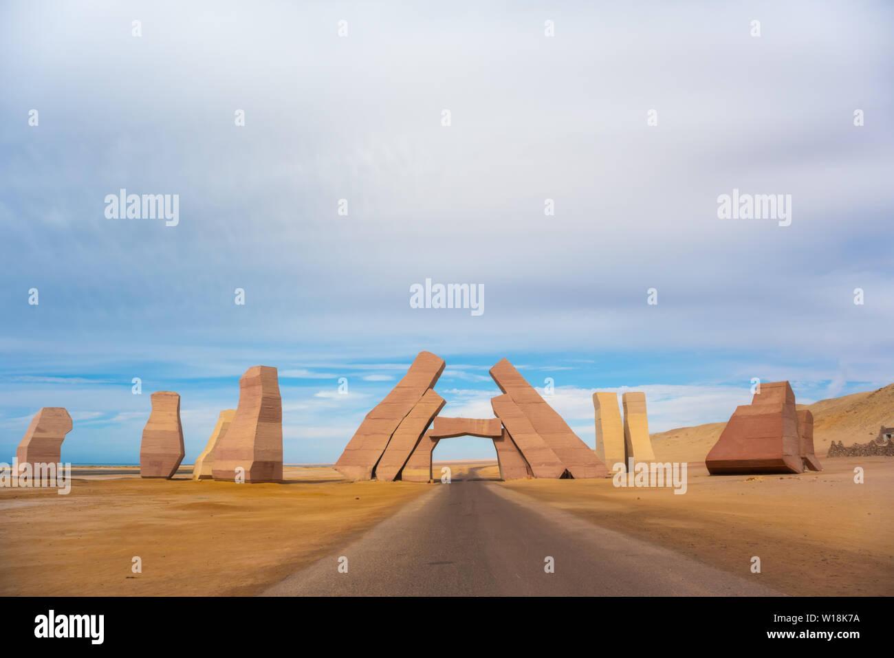 Entrance in the national park Ras Mohammed, Sinai, Egypt - Stock Image