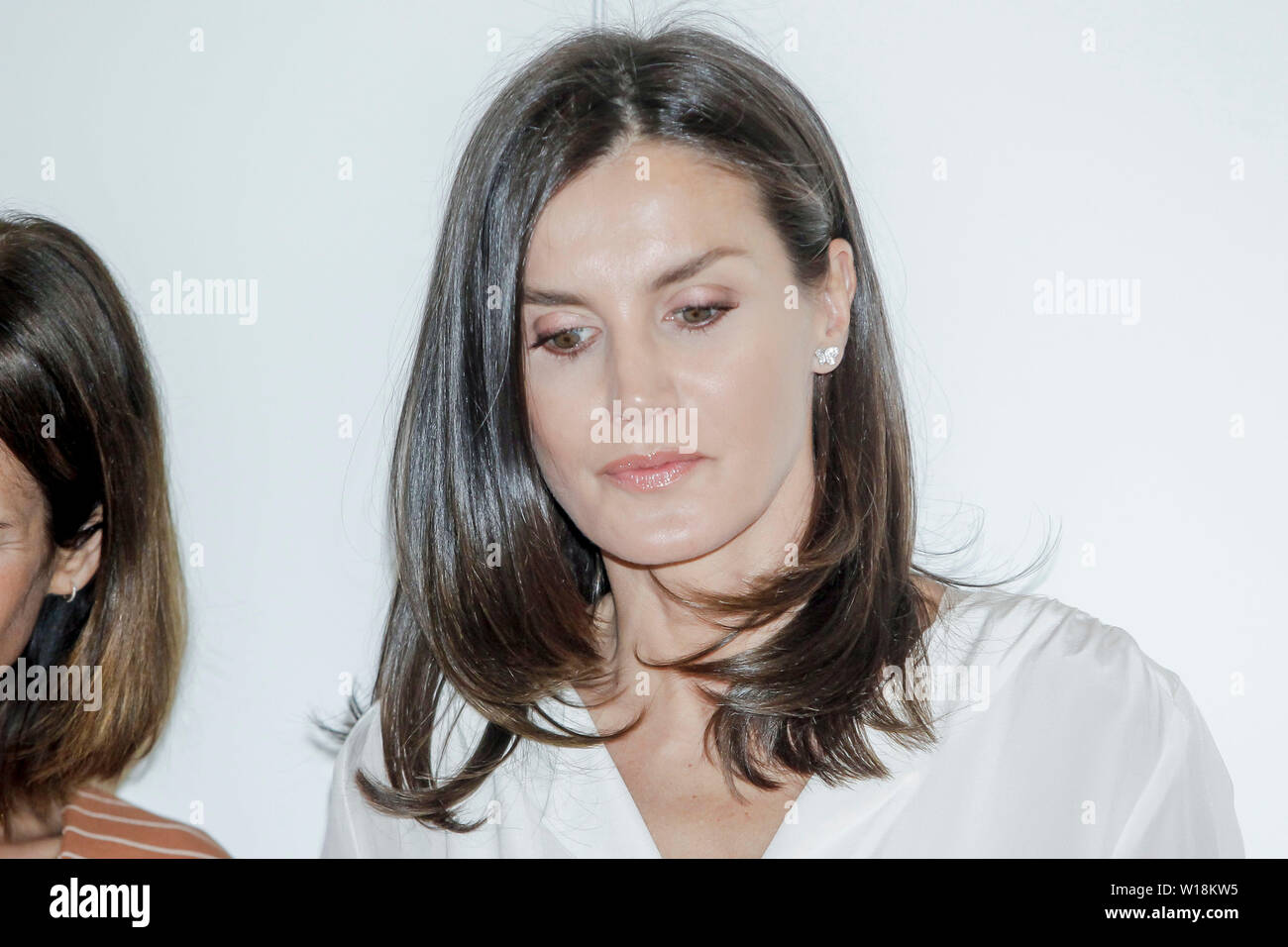 Madrid, Spain  01st July, 2019  Queen Letizia attends a