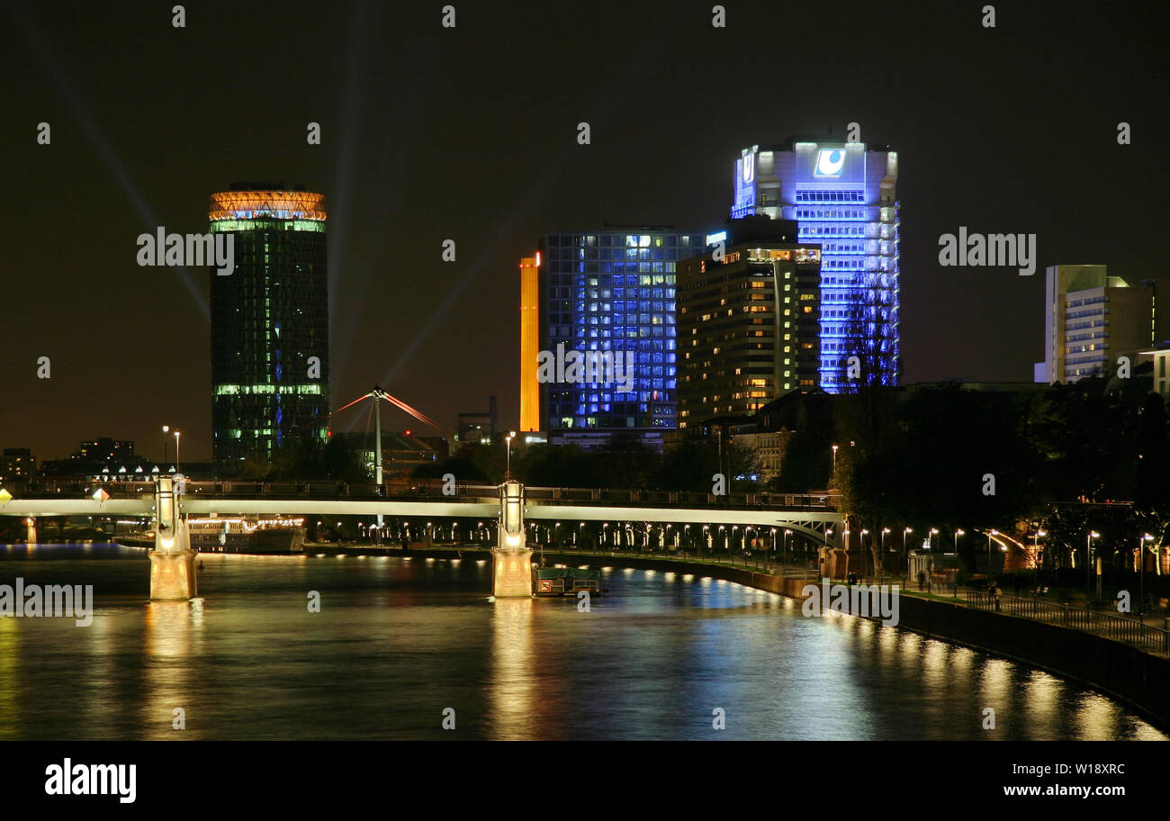 frankfurt,main river - Stock Image