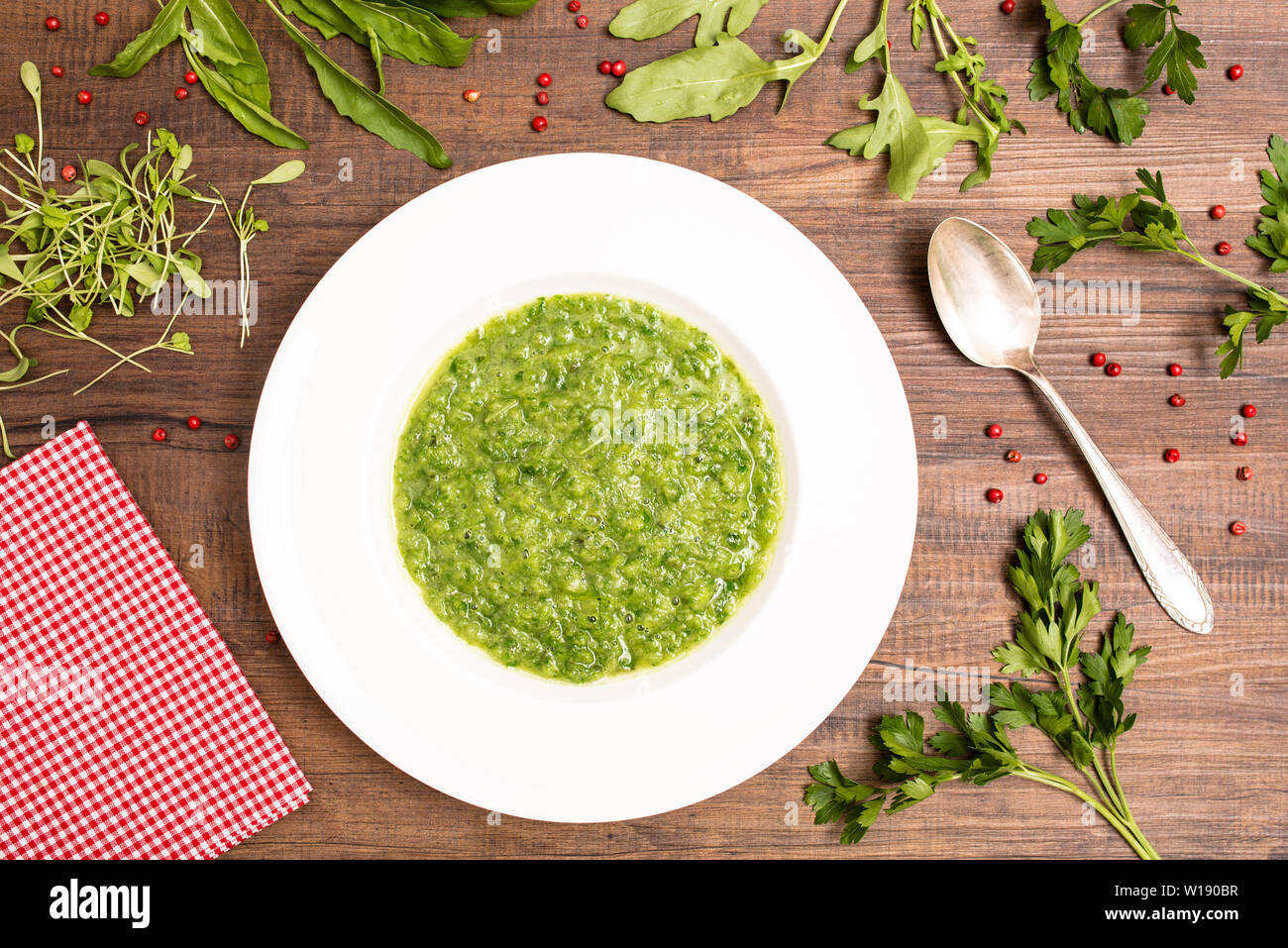 vegetable soup - Stock Image