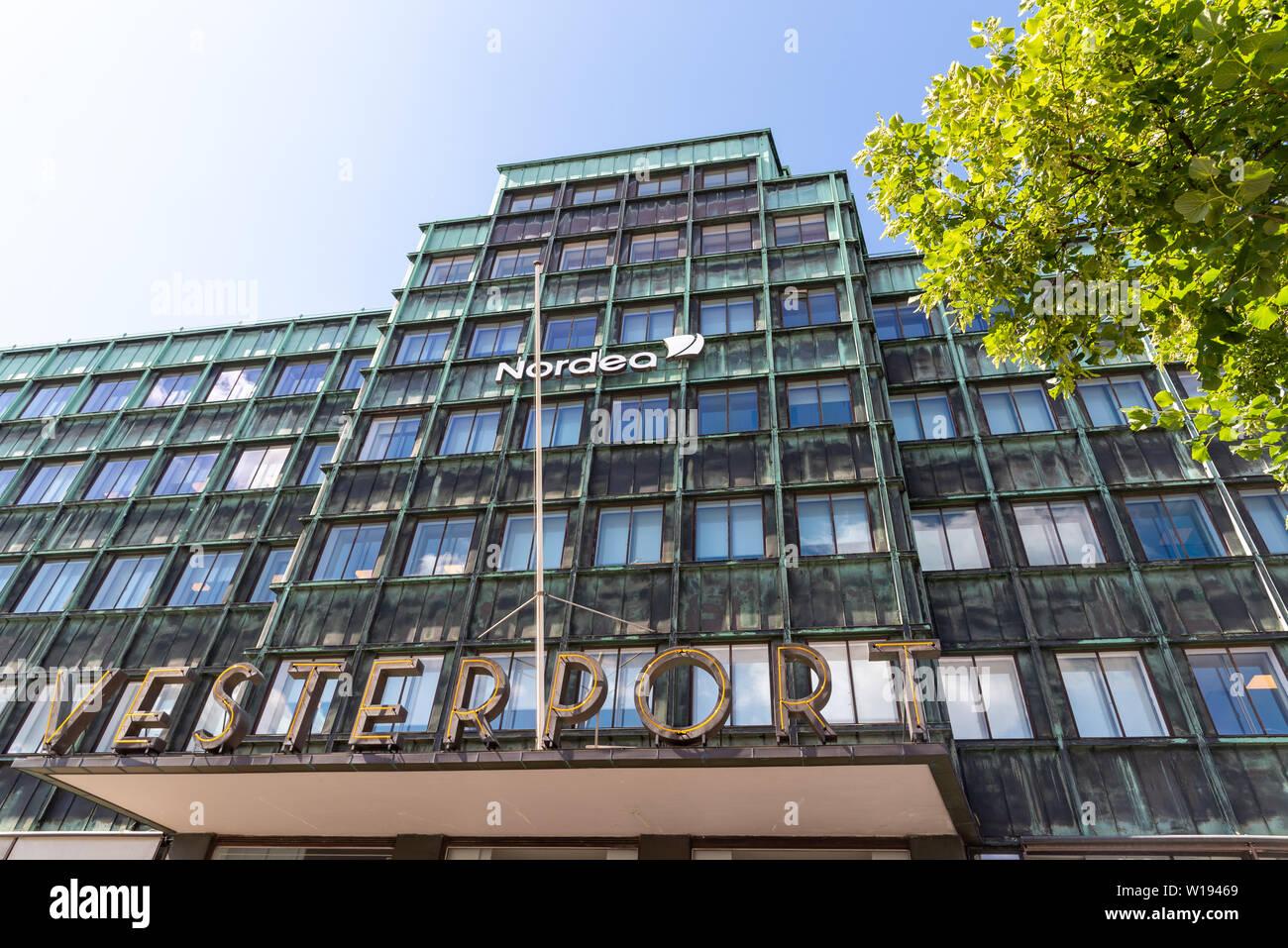 Nordea Bank Vesterport branch, Copenhagen, Denmark - Stock Image