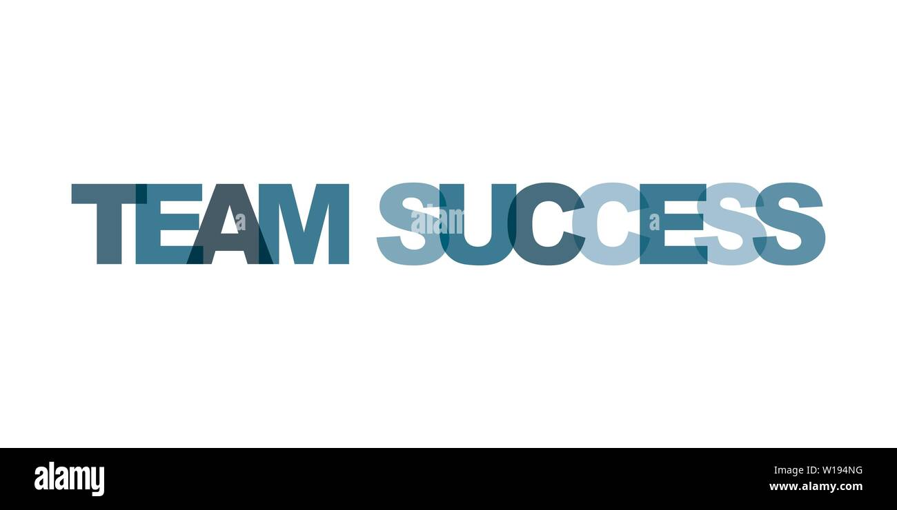 Team Success Business Card Text Modern Lettering Poster