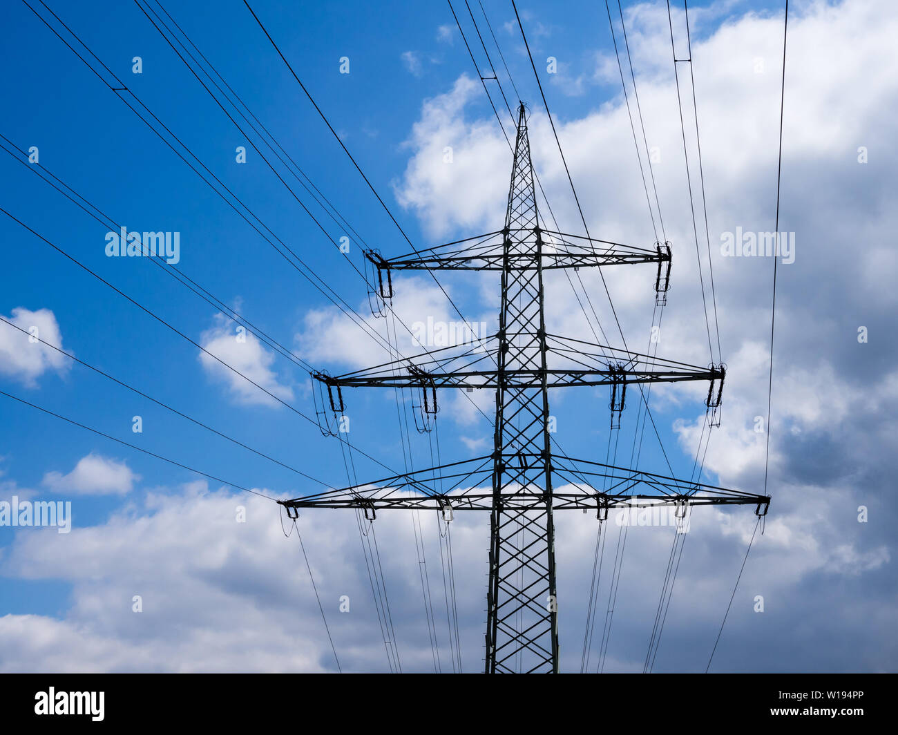 electrical tower,grid,electricity - Stock Image