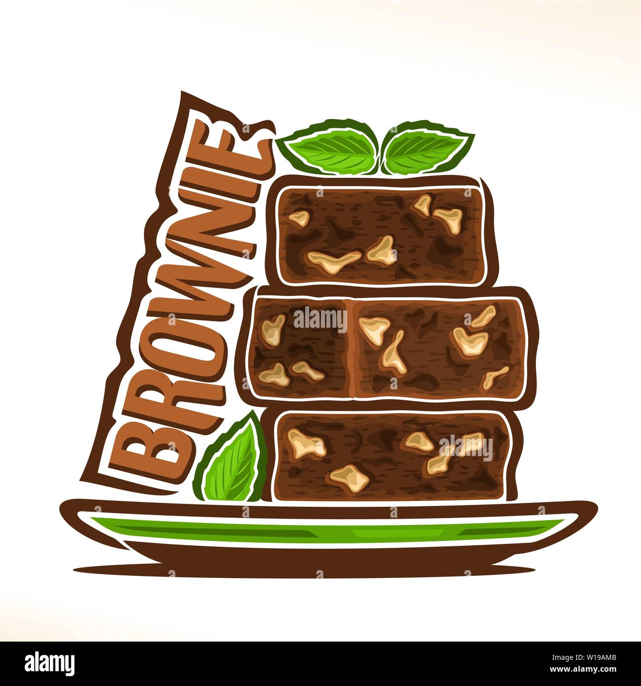 Vector logo for Brownie Stock Vector