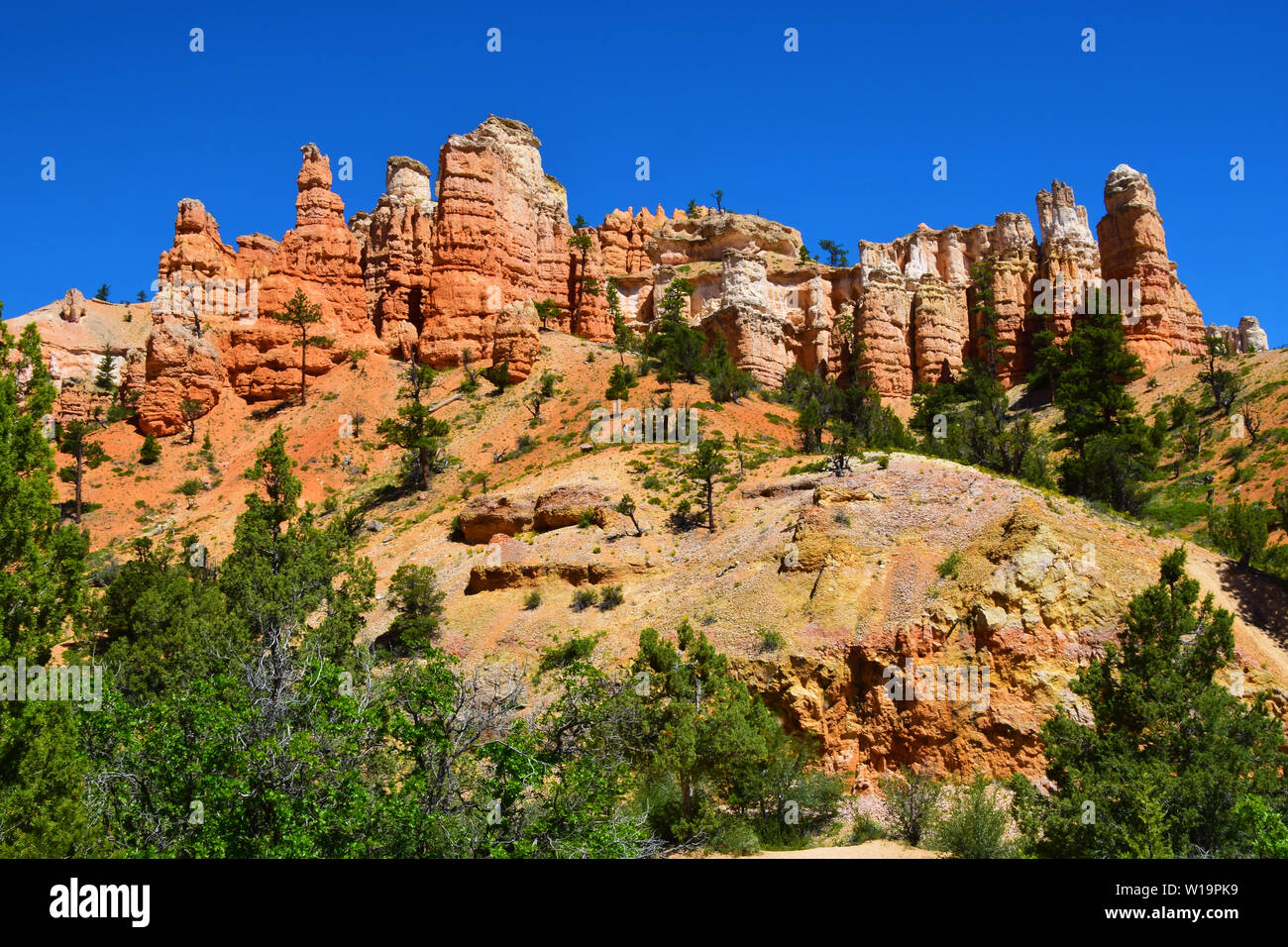 Rock formations in Southwestern Utah, USA Stock Photo