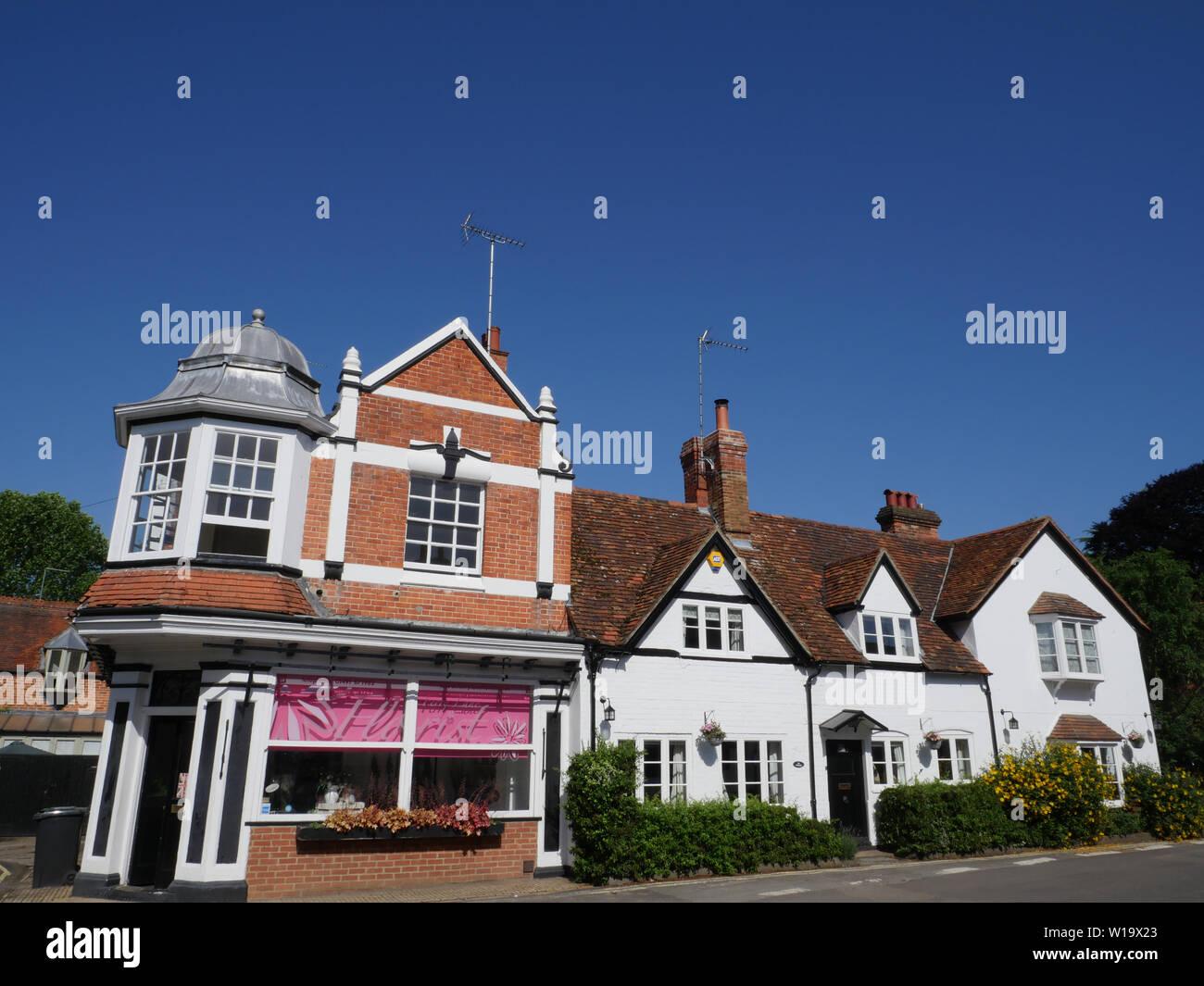 Ferry Lane Florist, Ferry Lane, Goring-on-Thames, Oxfordshire, England, UK, GB. Stock Photo