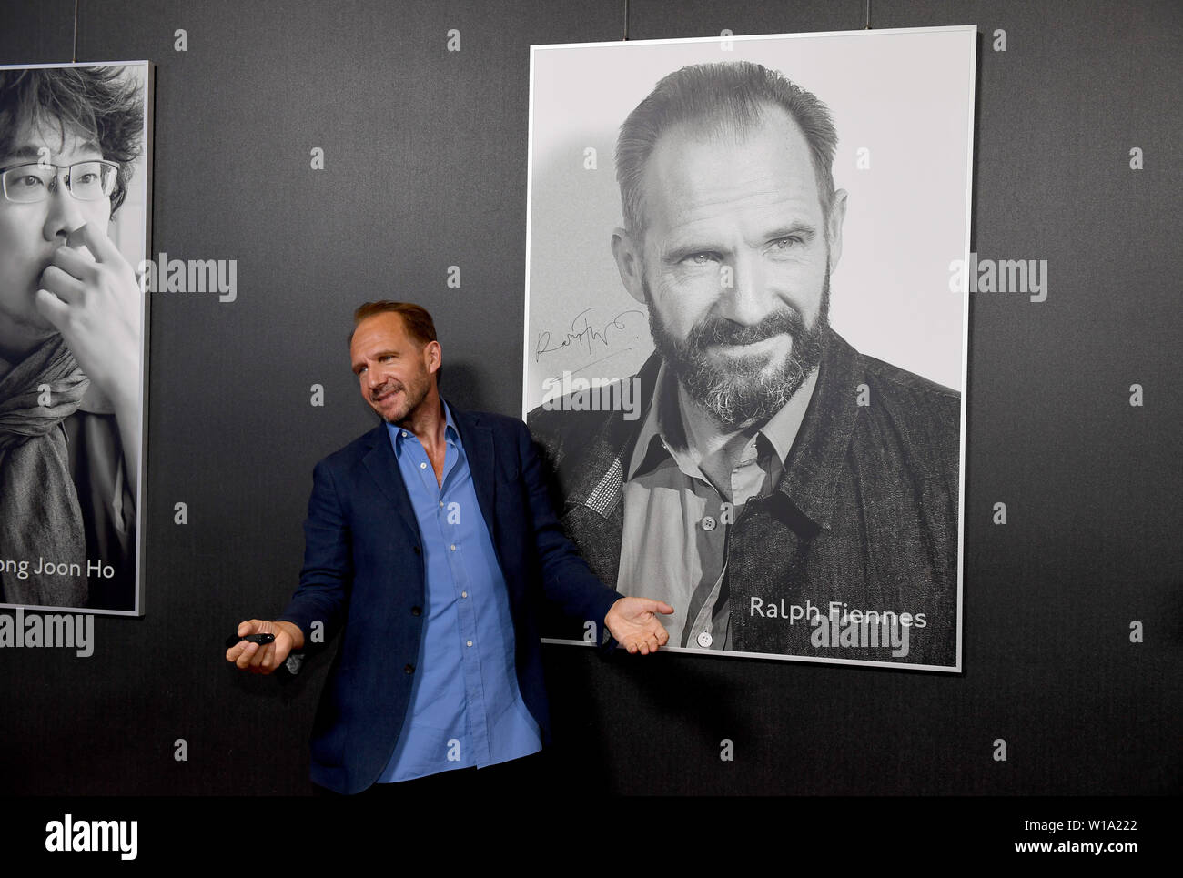Munich, Germany  01st July, 2019  The actor Ralph Fiennes signs his