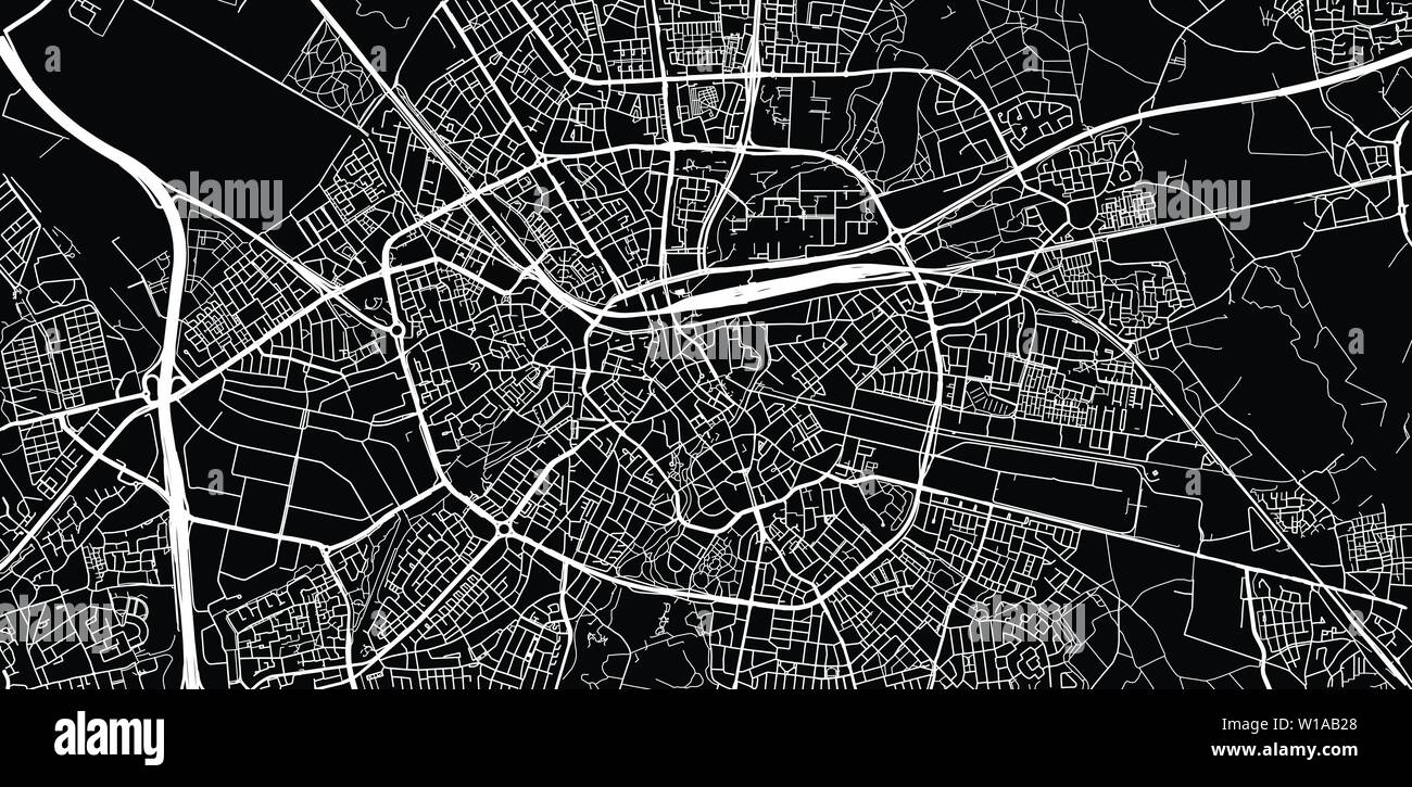 Urban vector city map of Eindhoven, The Netherlands Stock ...