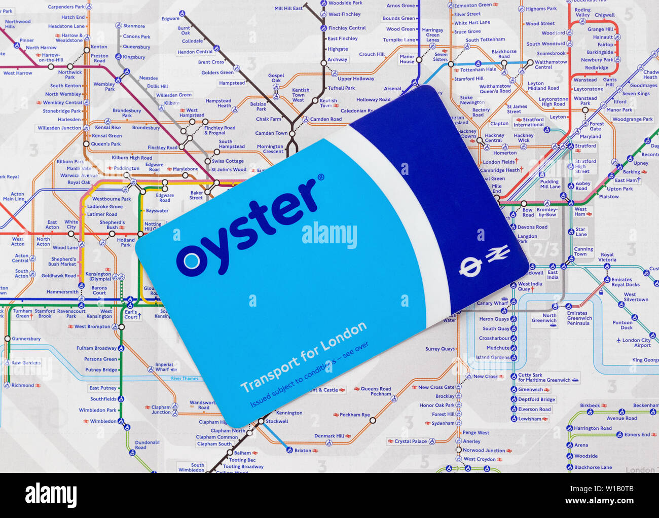 Travel Map London.London Uk July 1st 2019 Oyster Travel Card On A Map Of London