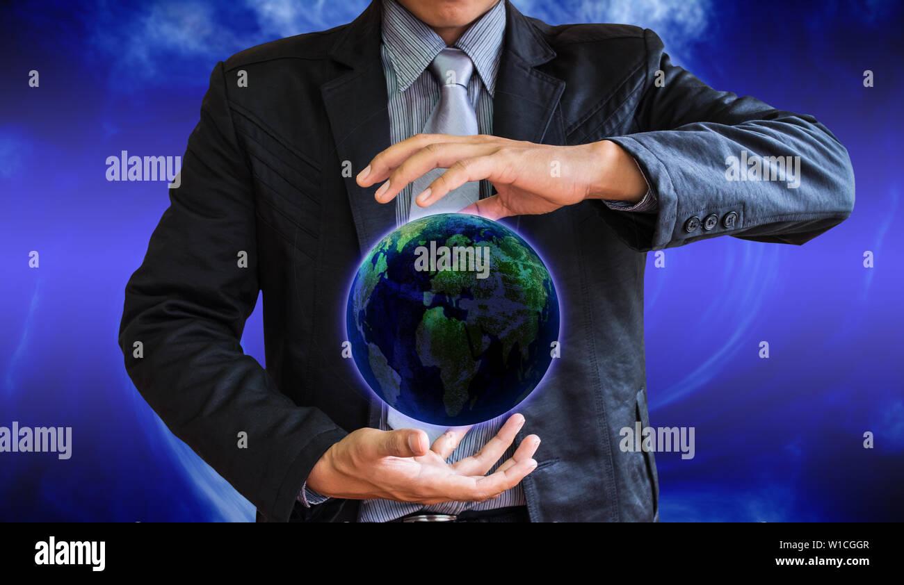 business man world - Stock Image