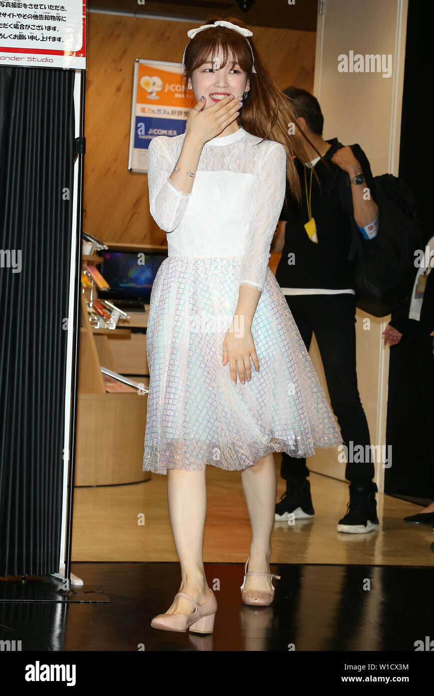 """SEUNGHEE(OH MY GIRL), July 1, 2019 : K-pop girls group OH MY GIRL attends """"M-ON! X OH MY GIRL Special Event"""" in Tokyo, Japan on July 1, 2019. Credit: Pasya/AFLO/Alamy Live News Stock Photo"""