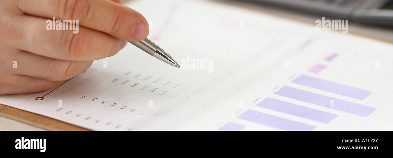 Office Bookkeeper do Formal Finance Accounting - Stock Image