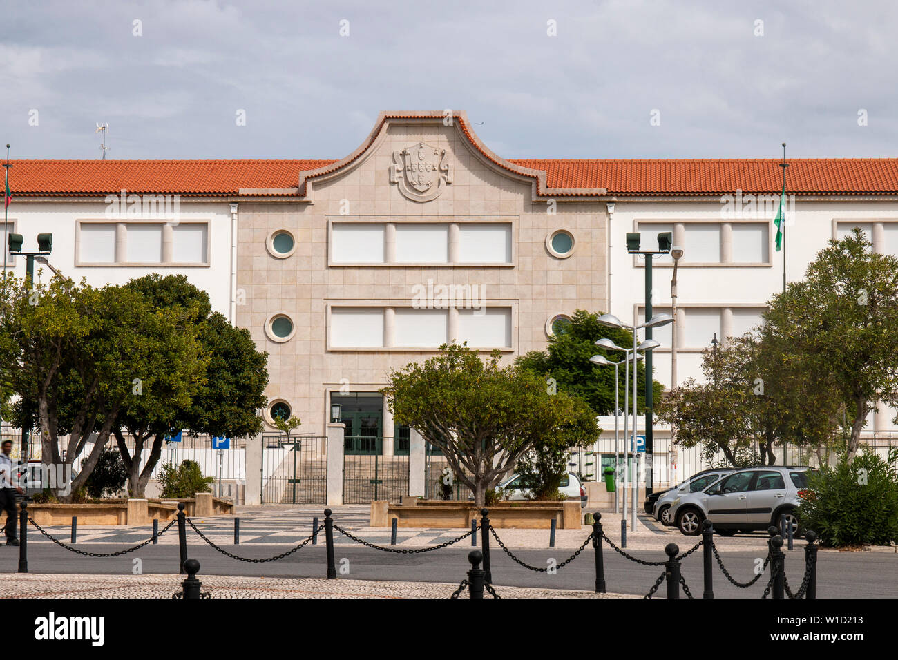 View of the large highschool / secondary school Joao de Deus located on Faro city, Portugal. - Stock Image