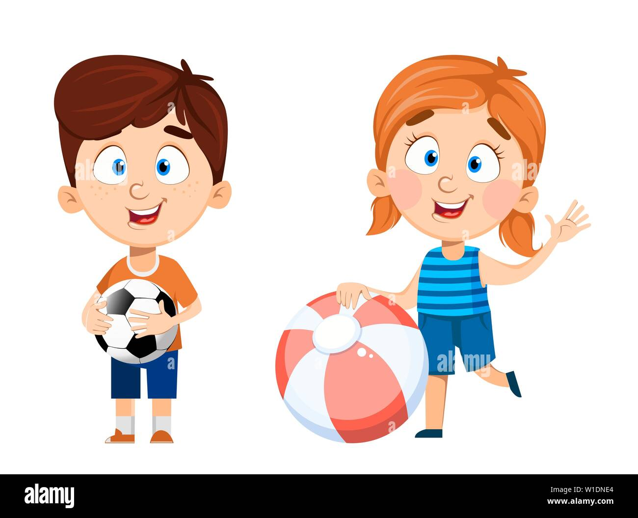 Two Kids Playing Football Royalty Free Cliparts, Vectors, And Stock  Illustration. Image 2738830.