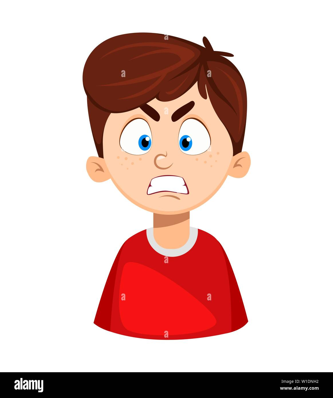 Face Expression Of Cute Boy Angry Emotion Of A Child Vector Illustration On White Background Stock Vector Image Art Alamy