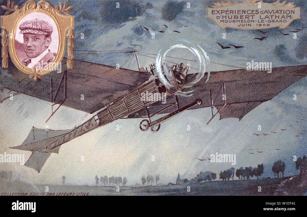 HUBERT LATHAM (1883-1912) French aviation pioneer - Stock Image