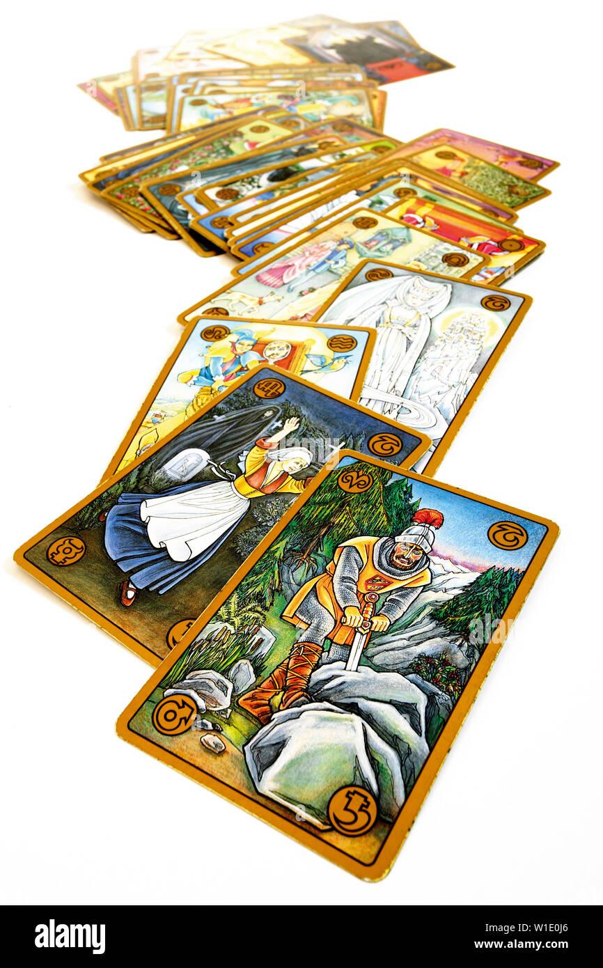 mysticism,esoteric,tarot cards,tarot - Stock Image