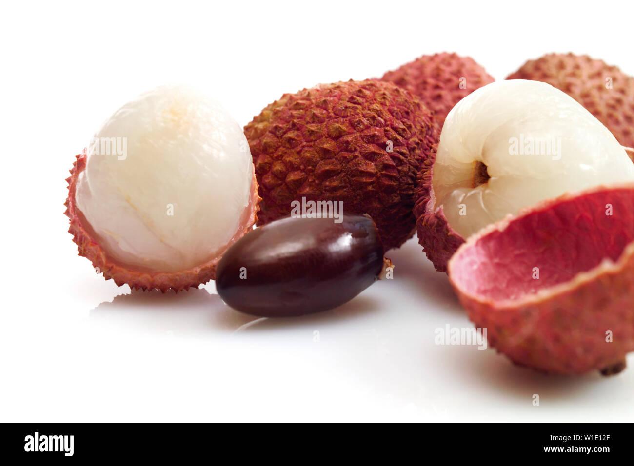 lychee,flesh Stock Photo