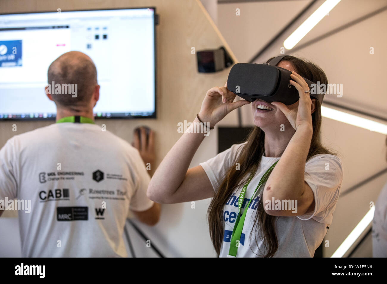 Royal Society Summer Science Exhibition, The Mathematics of Cancer, mathematical modelling providing insight into complex structures of tumours. - Stock Image