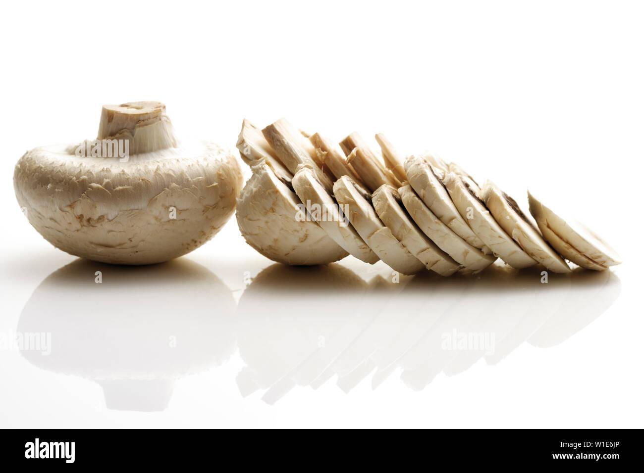 mushroom,mushroom slice - Stock Image