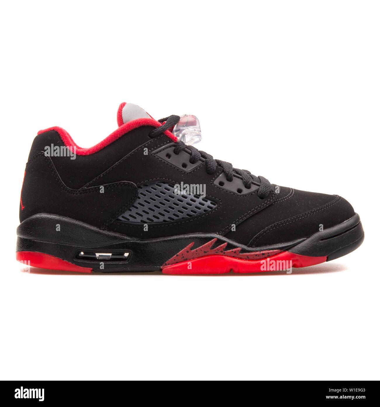 13e50baf Black Red Jordan Sneakers Stock Photos & Black Red Jordan Sneakers ...