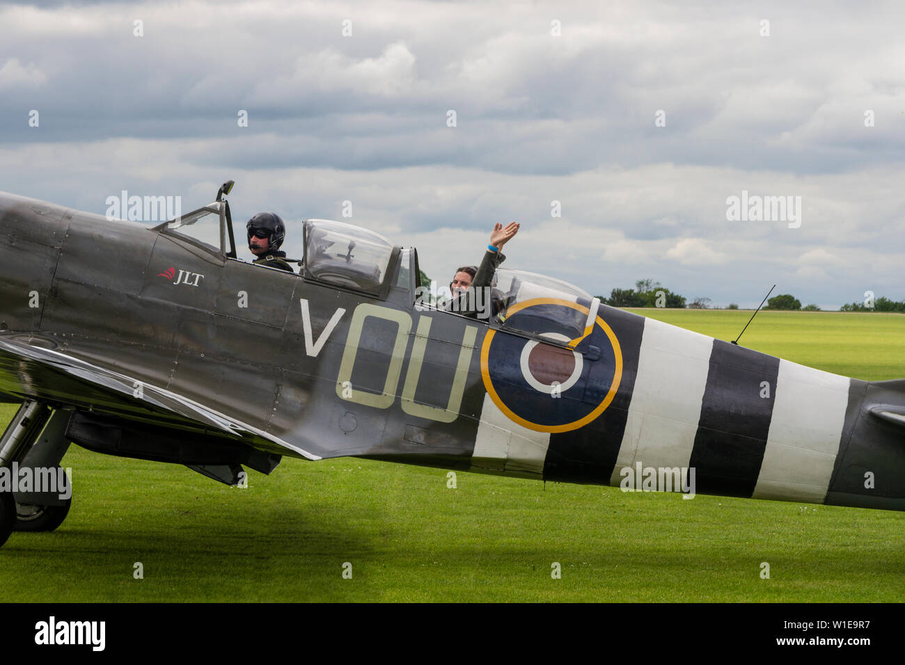 Two seater WW2 Supermarine Spitfire - Stock Image