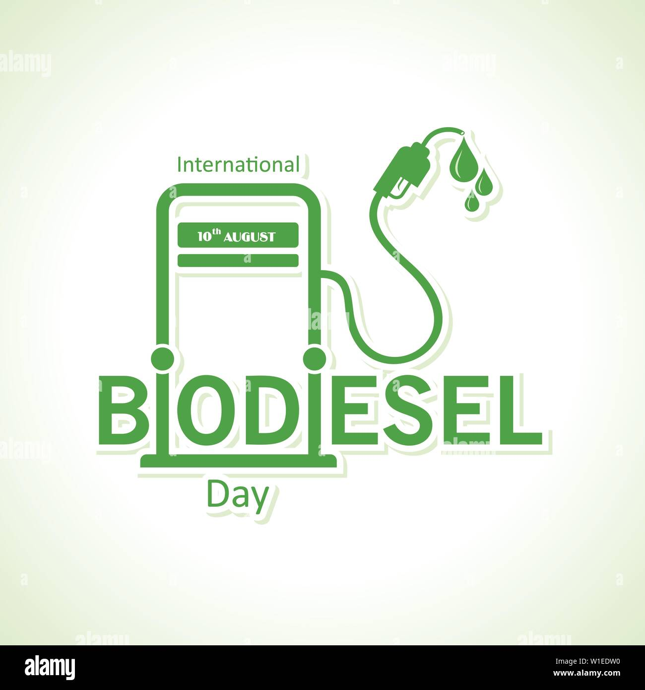 Illustration of International Biodiesel Day Greeting for Eco Environment - 10 August - Stock Vector