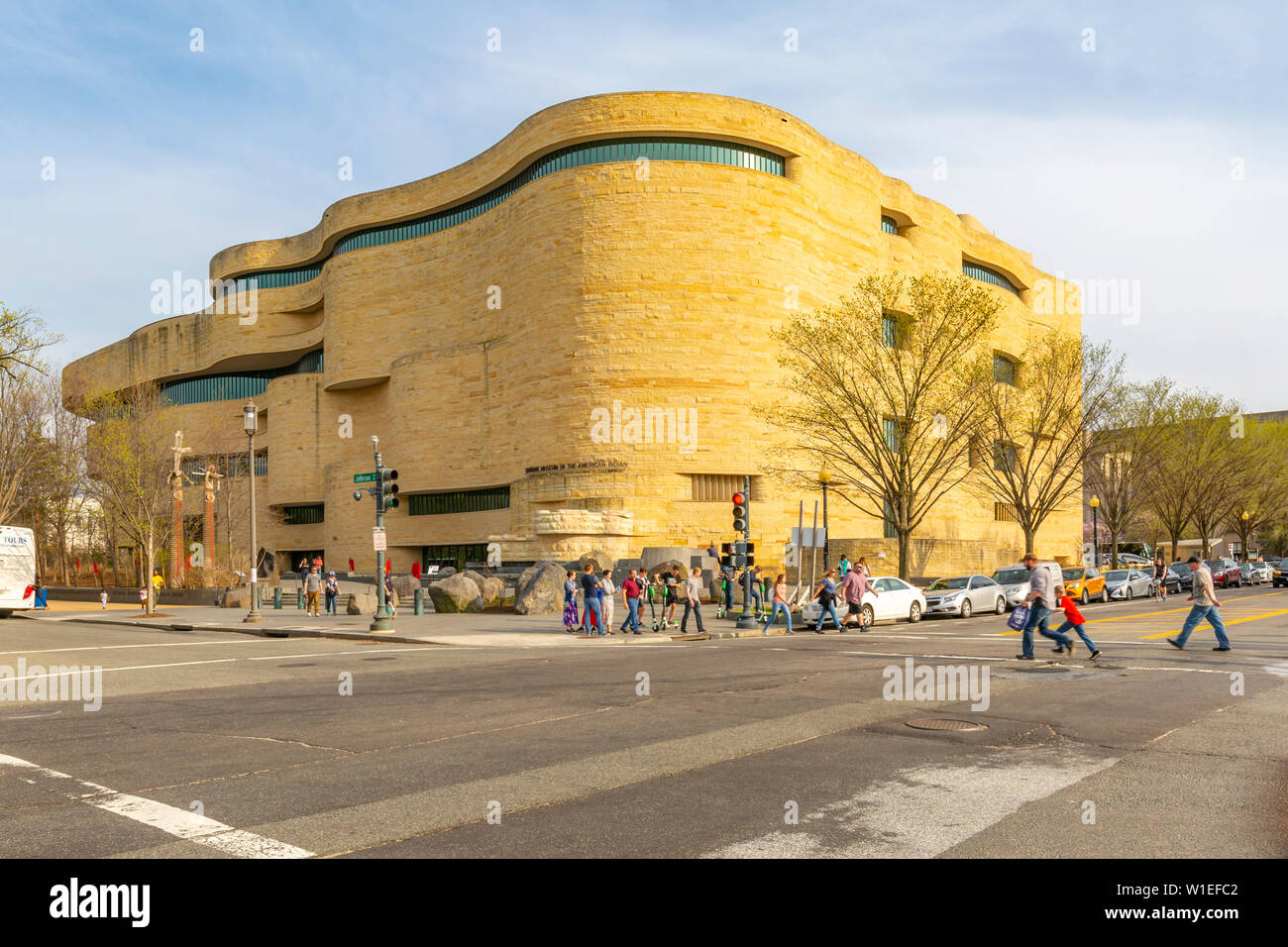 View of National Museum of the American Indian, Washington D.C., United States of America, North America - Stock Image