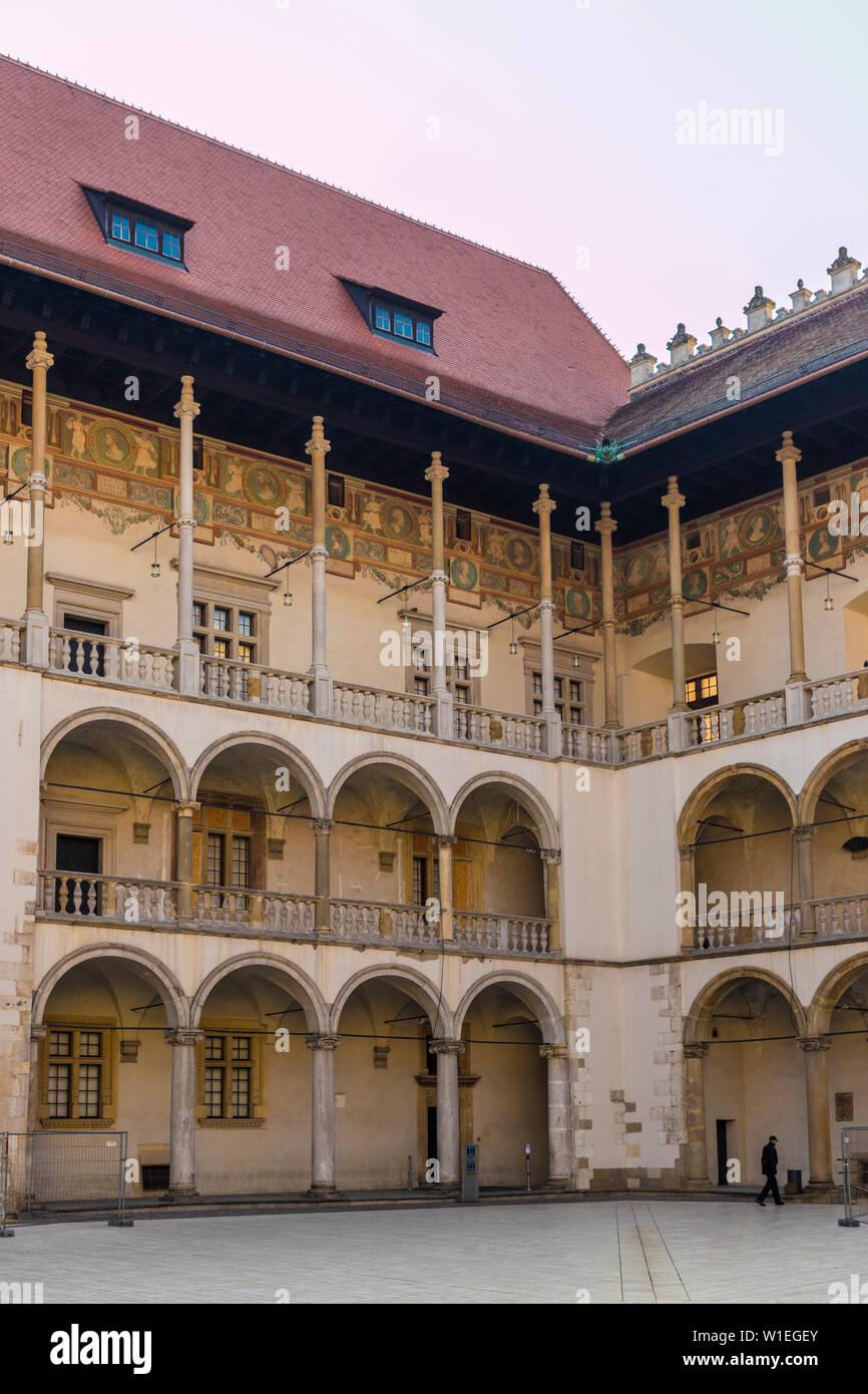 The Renaissance Wawel building the Royal Residence Krakow Poland