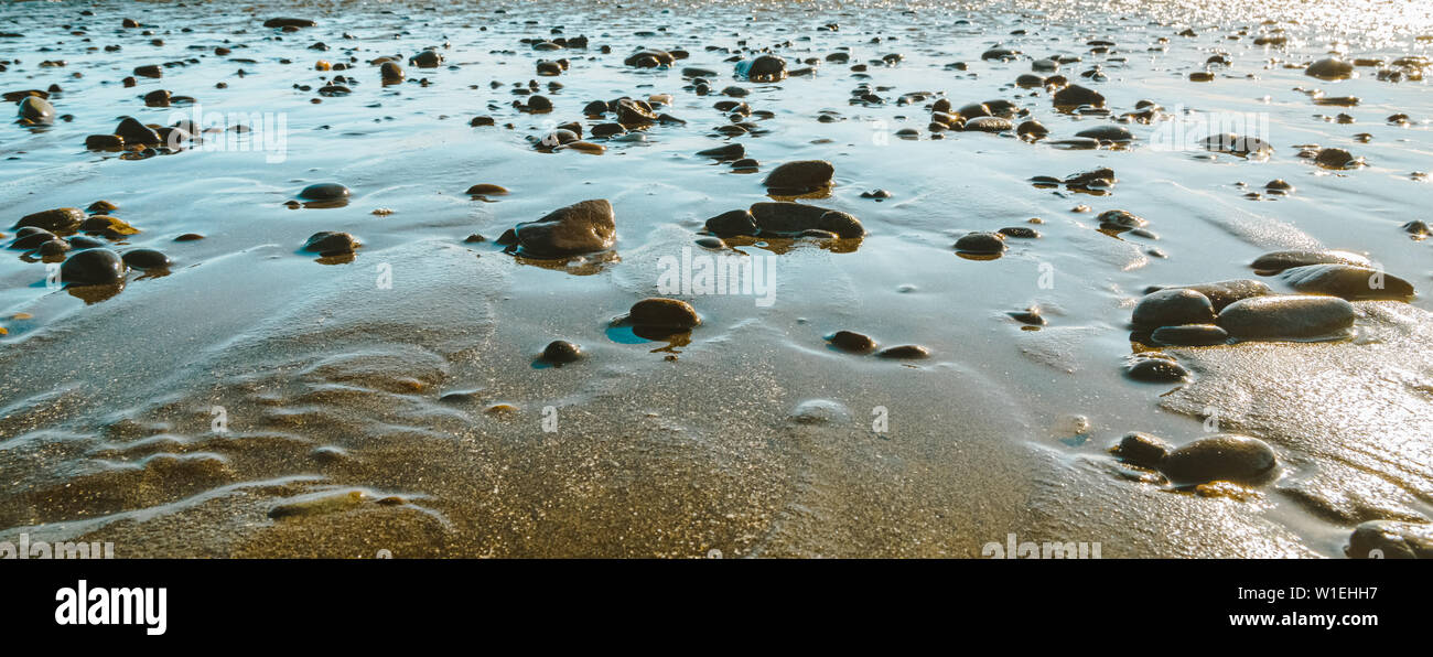 Pebbles And Rocks On A Beach At Low Tide Natural Generic