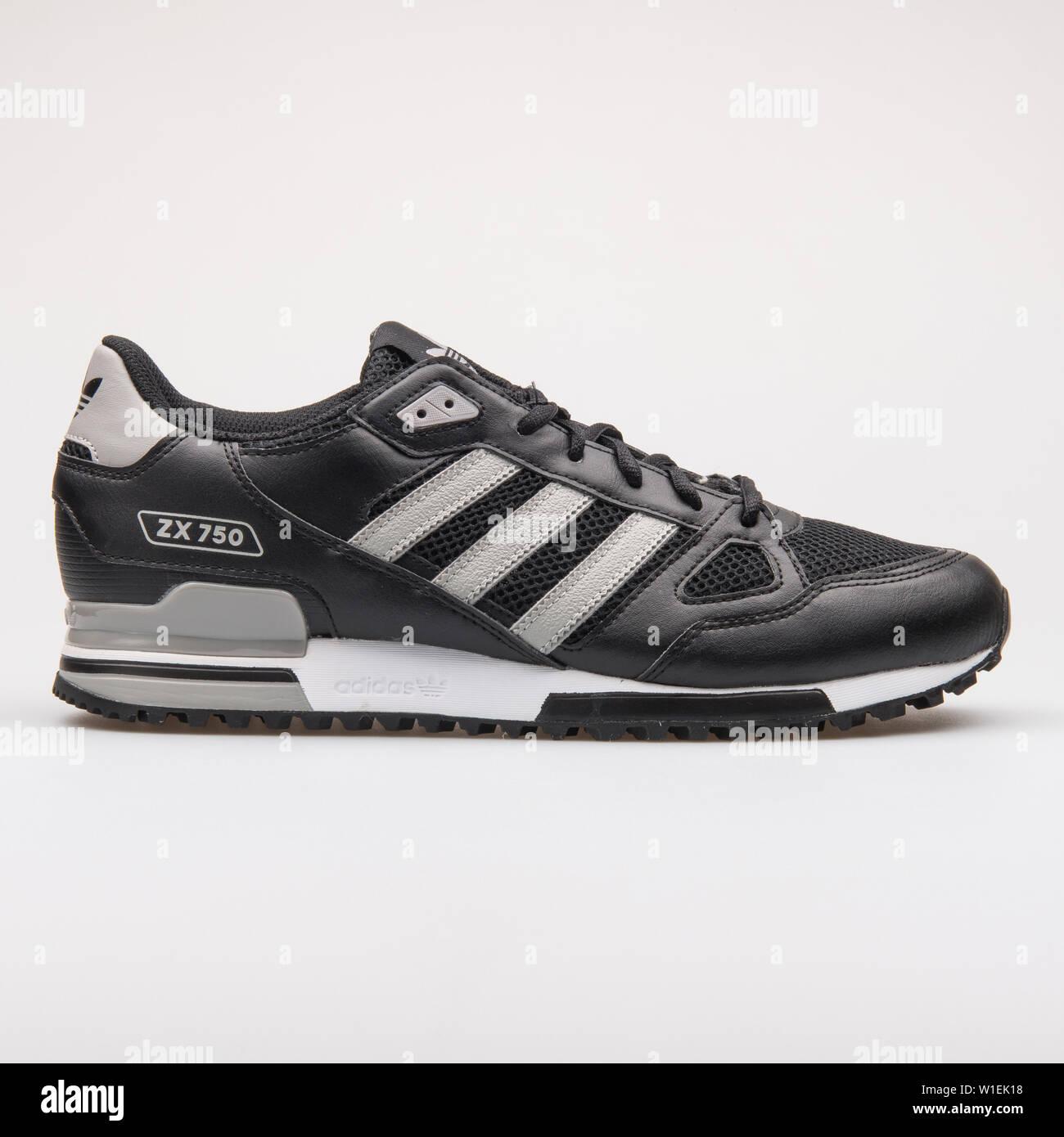 quality design 4d671 0594a VIENNA, AUSTRIA - AUGUST 28, 2017: Adidas ZX 750 black and ...