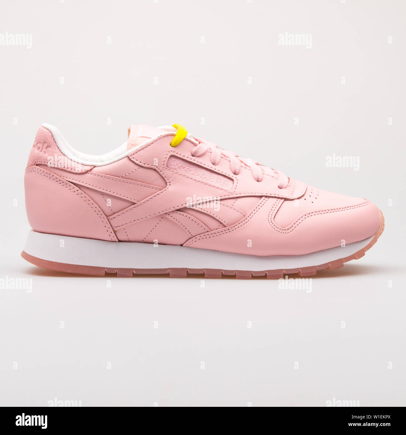 3bc98c17 VIENNA, AUSTRIA - AUGUST 28, 2017: Reebok Classic Leather Face pink sneaker  on