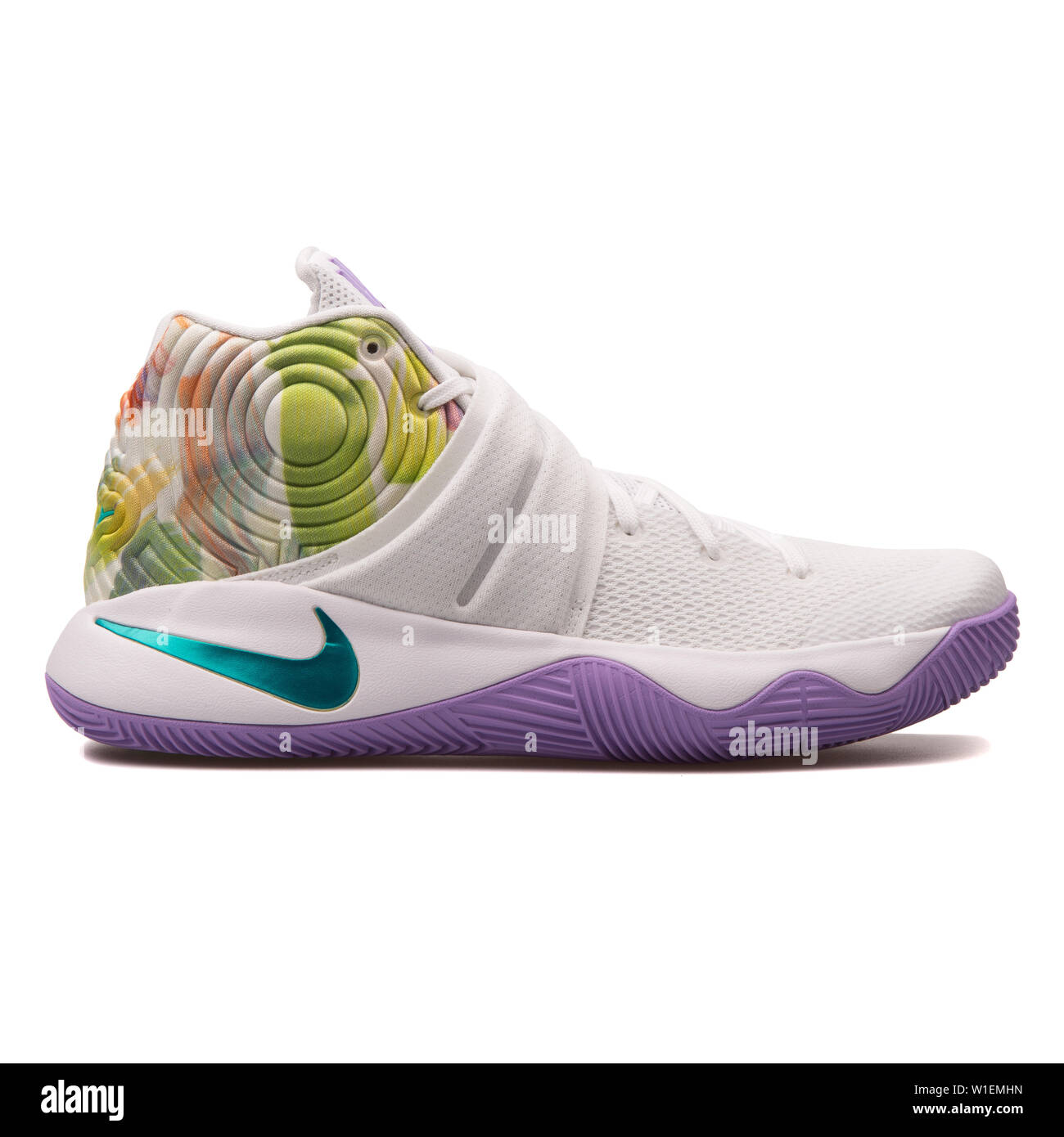best loved 2d871 d4cc7 VIENNA, AUSTRIA - AUGUST 30, 2017: Nike Kyrie 2 white and ...