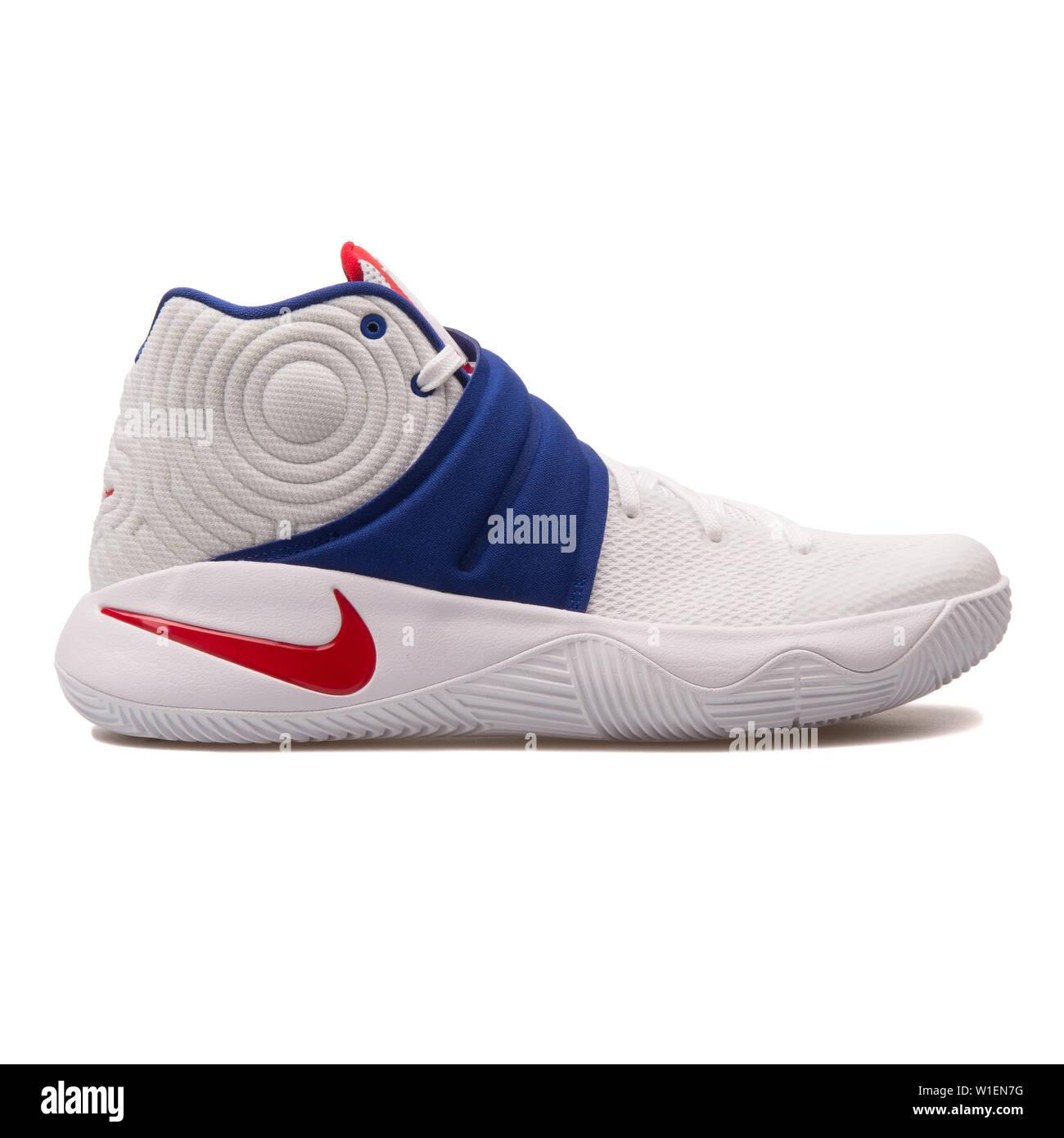 sports shoes be29d 7d2a2 VIENNA, AUSTRIA - AUGUST 30, 2017: Nike Kyrie 2 white, blue ...