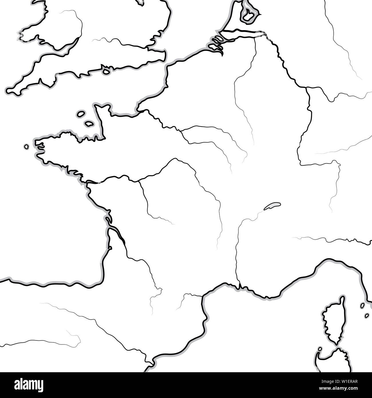 Atlantikwall Karte.Normandie Map Stock Photos Normandie Map Stock Images Alamy
