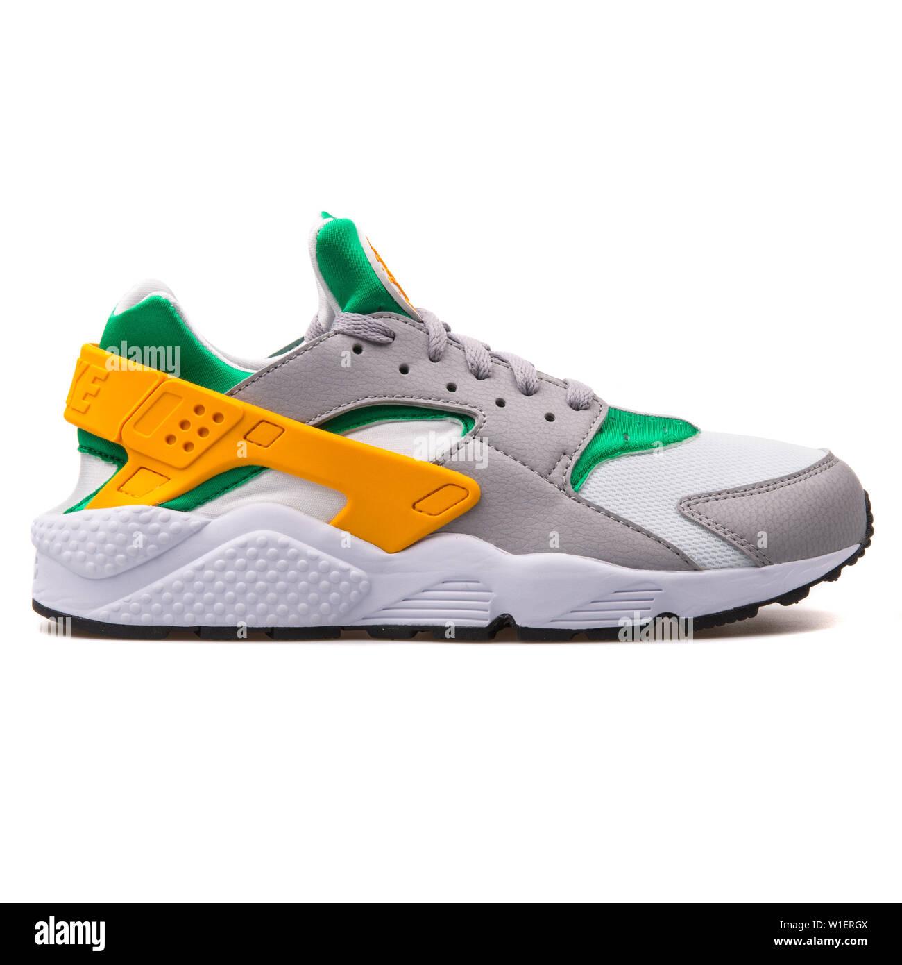 Nike Air Huarache grey, green, yellow