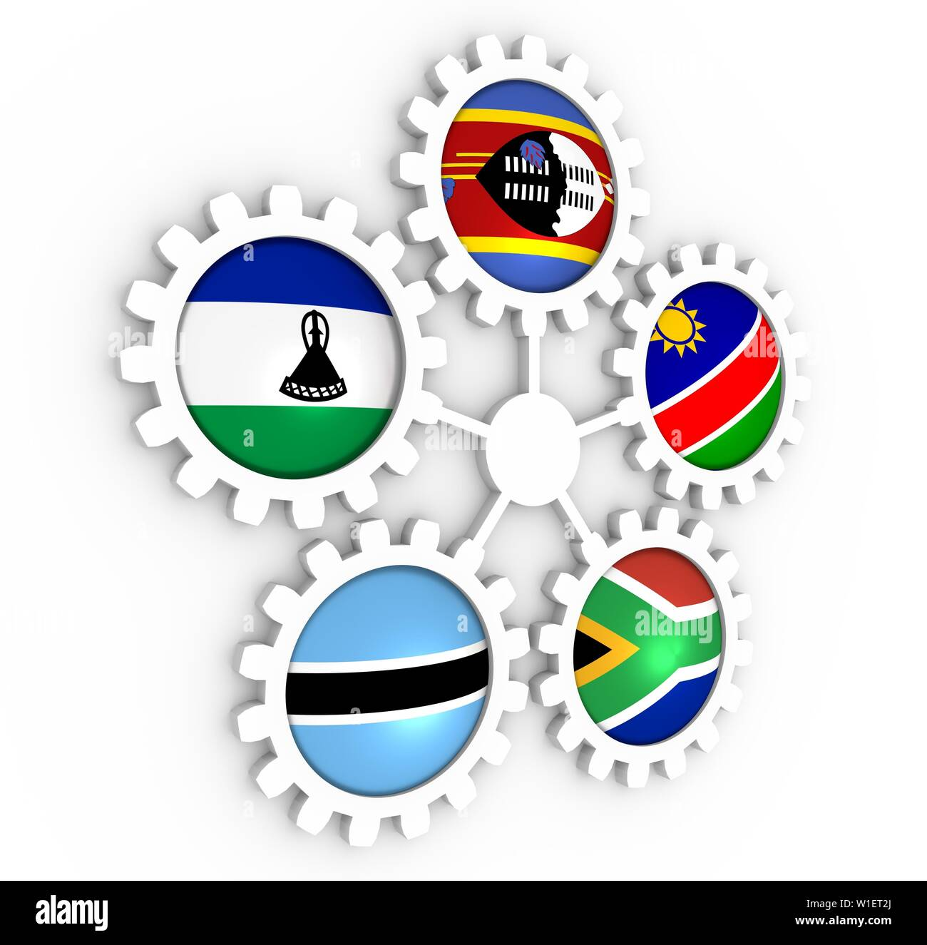 Southern African Customs Union members Stock Photo