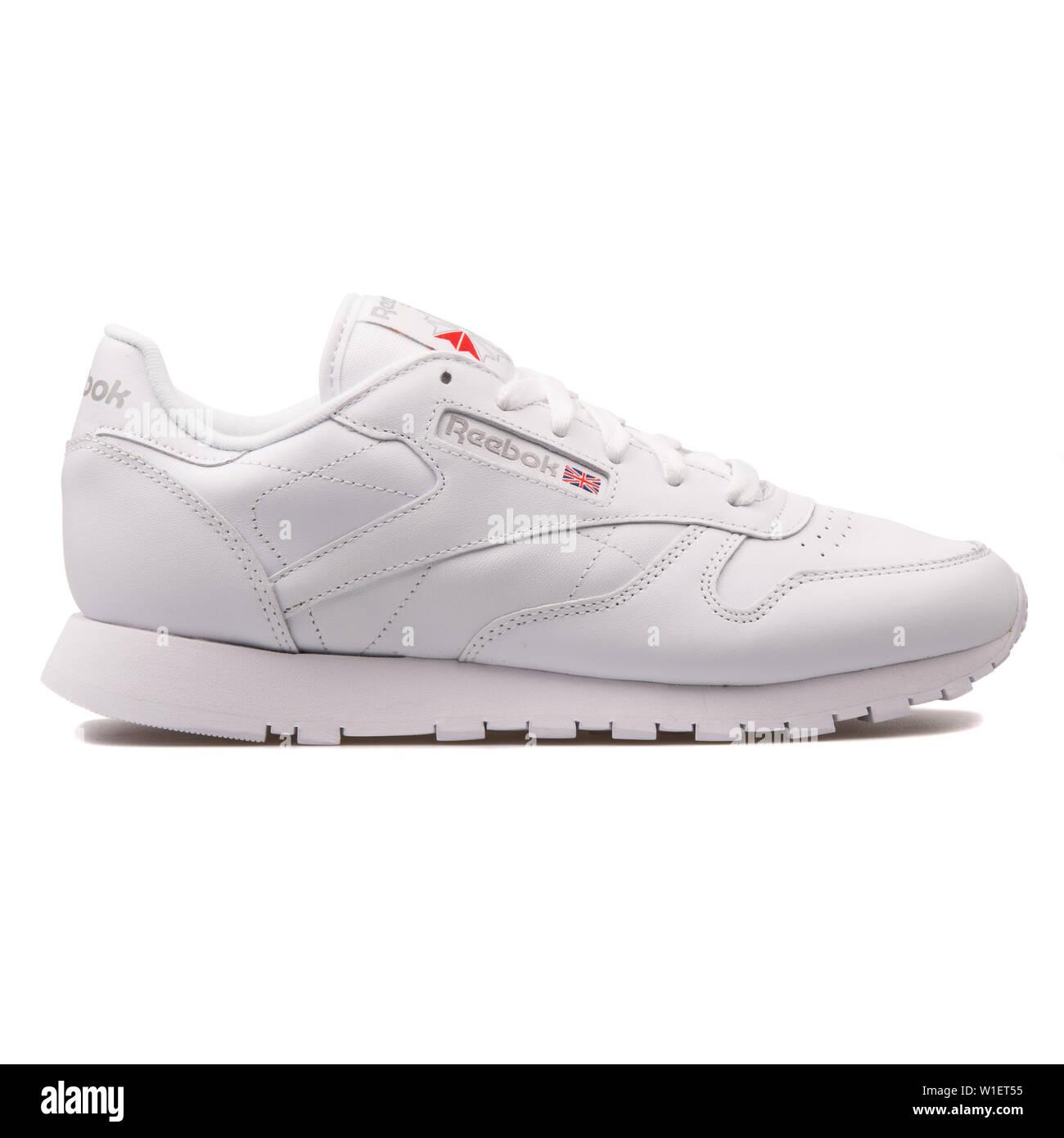 340a26fb VIENNA, AUSTRIA - AUGUST 10, 2017: Reebok Classic Leather white sneaker on  white