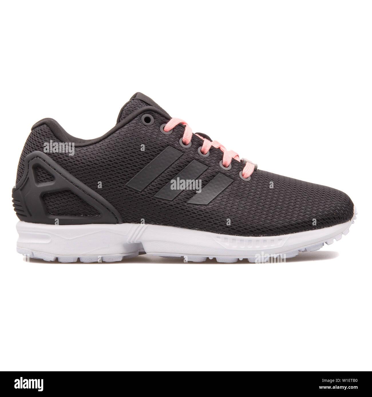 finest selection 79695 ce898 VIENNA, AUSTRIA - AUGUST 10, 2017: Adidas ZX Flux black ...