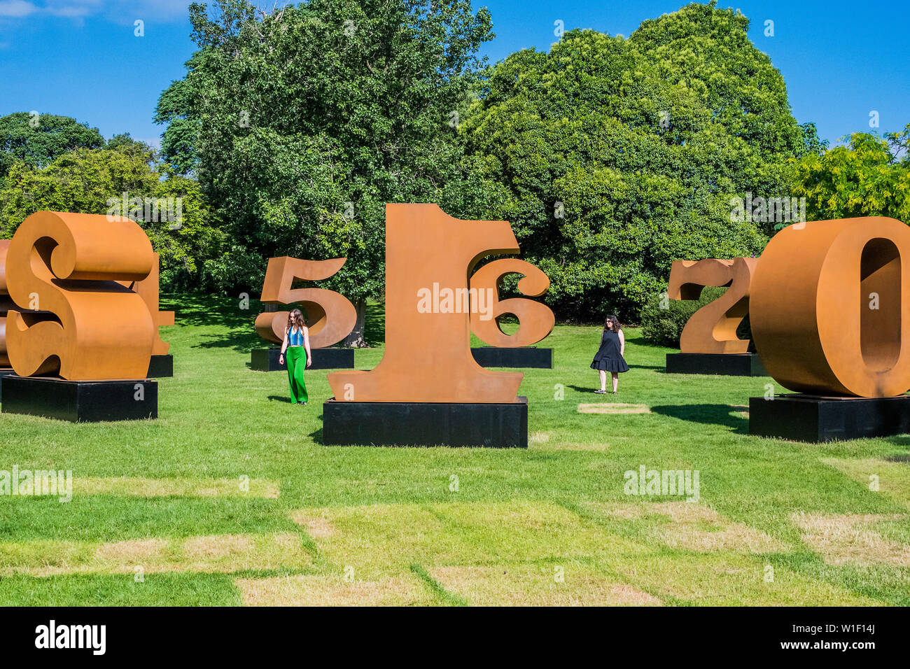 Regents Park London Uk 2nd July 2019 Robert Indiana One Through Zero 1980 2002 Presented By