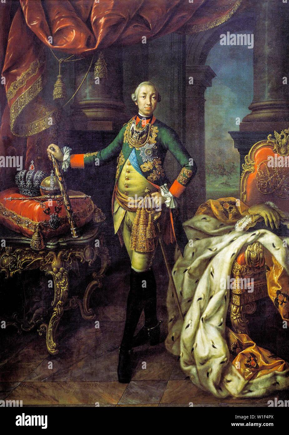 Alexsey Antropov, Peter III, Emperor of Russia, 1728-1762, portrait painting, 1762 - Stock Image
