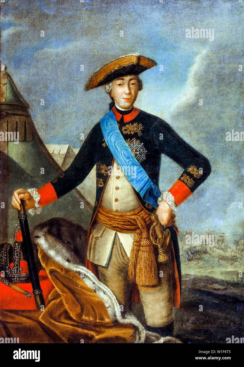 Fyodor Rokotov, Emperor Peter III of Russia, 1728-1762, portrait painting, 1762 - Stock Image